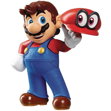 World of Nintendo Super Mario Cappy Mario Mini Figure