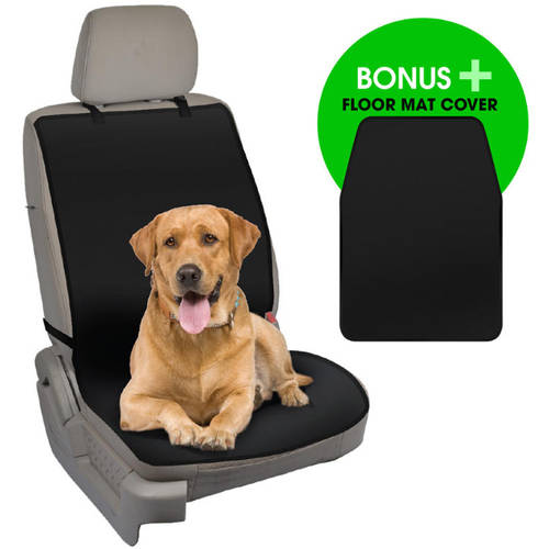 BDK TravelDog WaterProof Car Seat Cover Protector with Floor Mat for Pets, Black Oxford Hammock