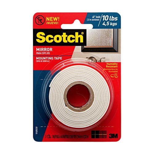 "Scotch Mirror Mounting Tape, 1"" x 60"""