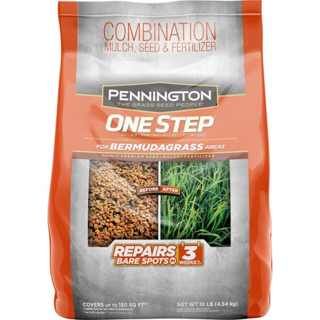 Pennington One Step Grass Seed for Bermudagrass, Mulch Plus Fertilizer, 10
