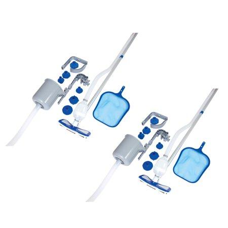 Bestway Above Ground Pool Cleaning Vacuum & Maintenance Accessories Kit (2 (Best Way To Clean Piercings)