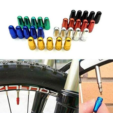 5 PCS Aluminium Presta Valve Cap Dust Cover MTB Road Bicycle Accessory Fuctional