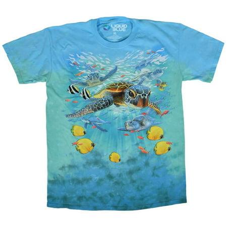 Swimming Sea Turtles Apparel T-Shirt - Tie (Sea Turtle Tie)