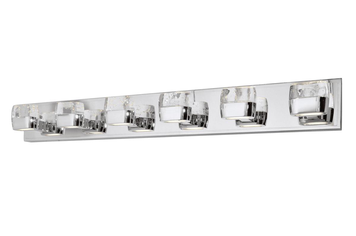 Bathroom Vanity 12 Light With Polished Chrome Finished LED ...