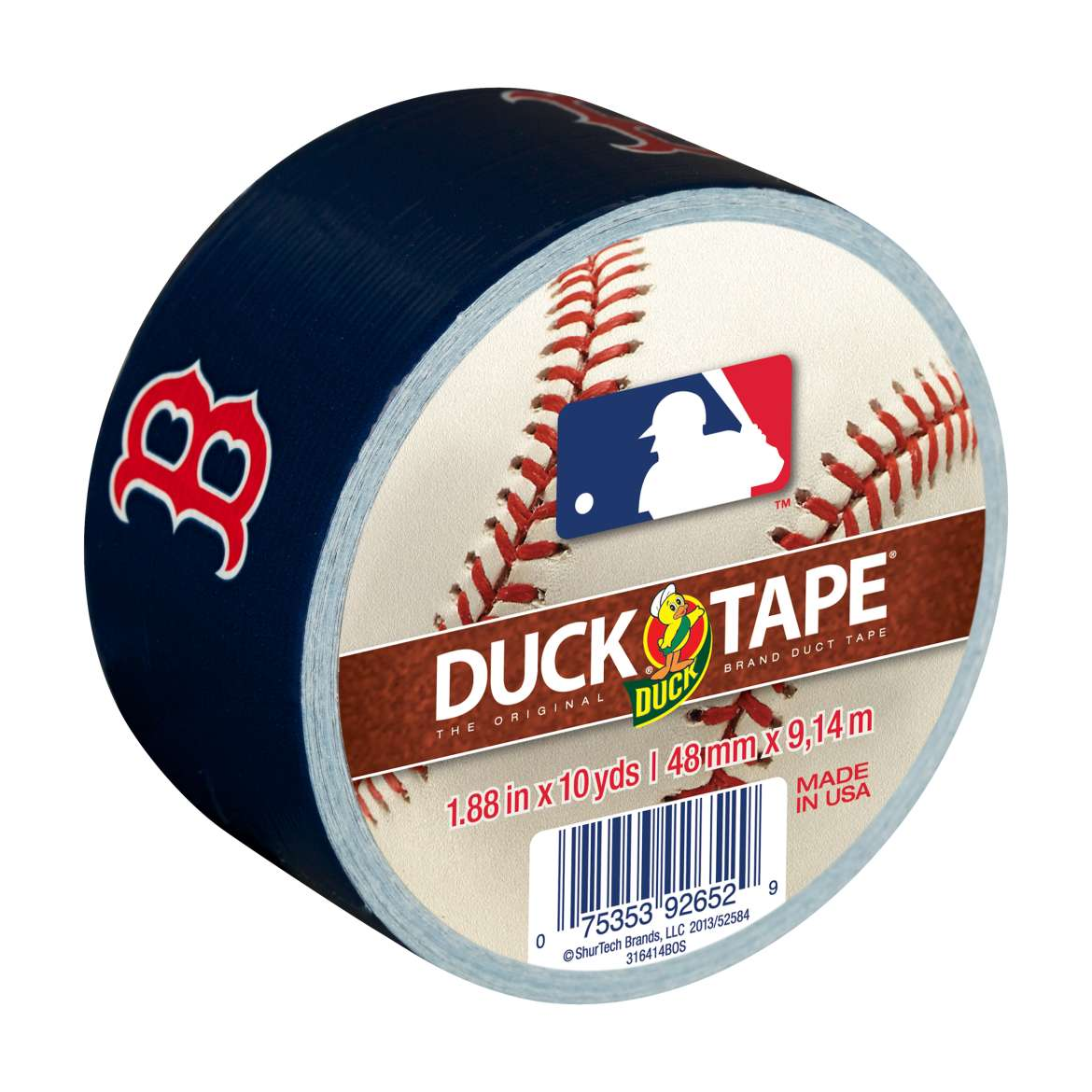 Duck Brand MLB Licensed Duct Tape, 1.88 in. x 10 yds., Boston Red Sox