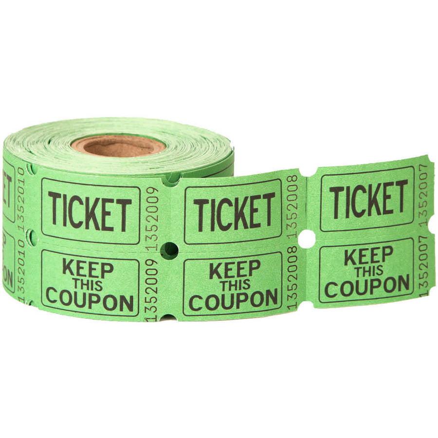 Double Roll Raffle Tickets, 500ct (Assorted Colors) - Walmart.com