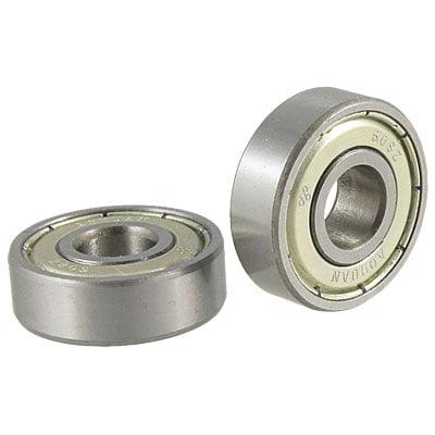2 Pcs Single Shielded 608Z Stainless Steel Deep Groove Ball - 5 Stainless Steel Bearings