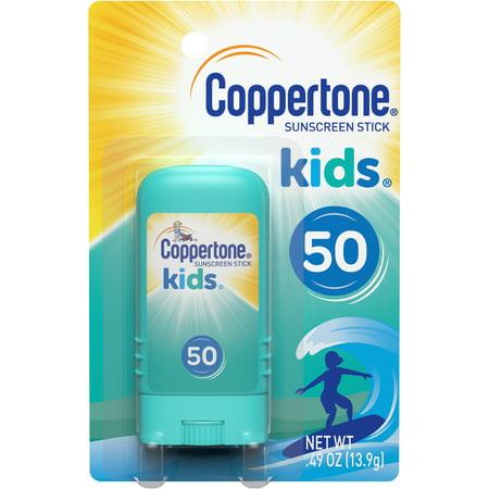 Coppertone Kids Sunscreen Stick Broad Spectrum SPF 50, .46