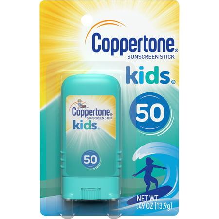 Coppertone Kids Sunscreen Stick Broad Spectrum SPF 50, .46