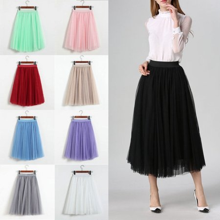 Women Tutu Tulle Skirts Long Prom Party Mesh Petticoat Dress Beach Skirt - Sparkle Skirts Promo Code