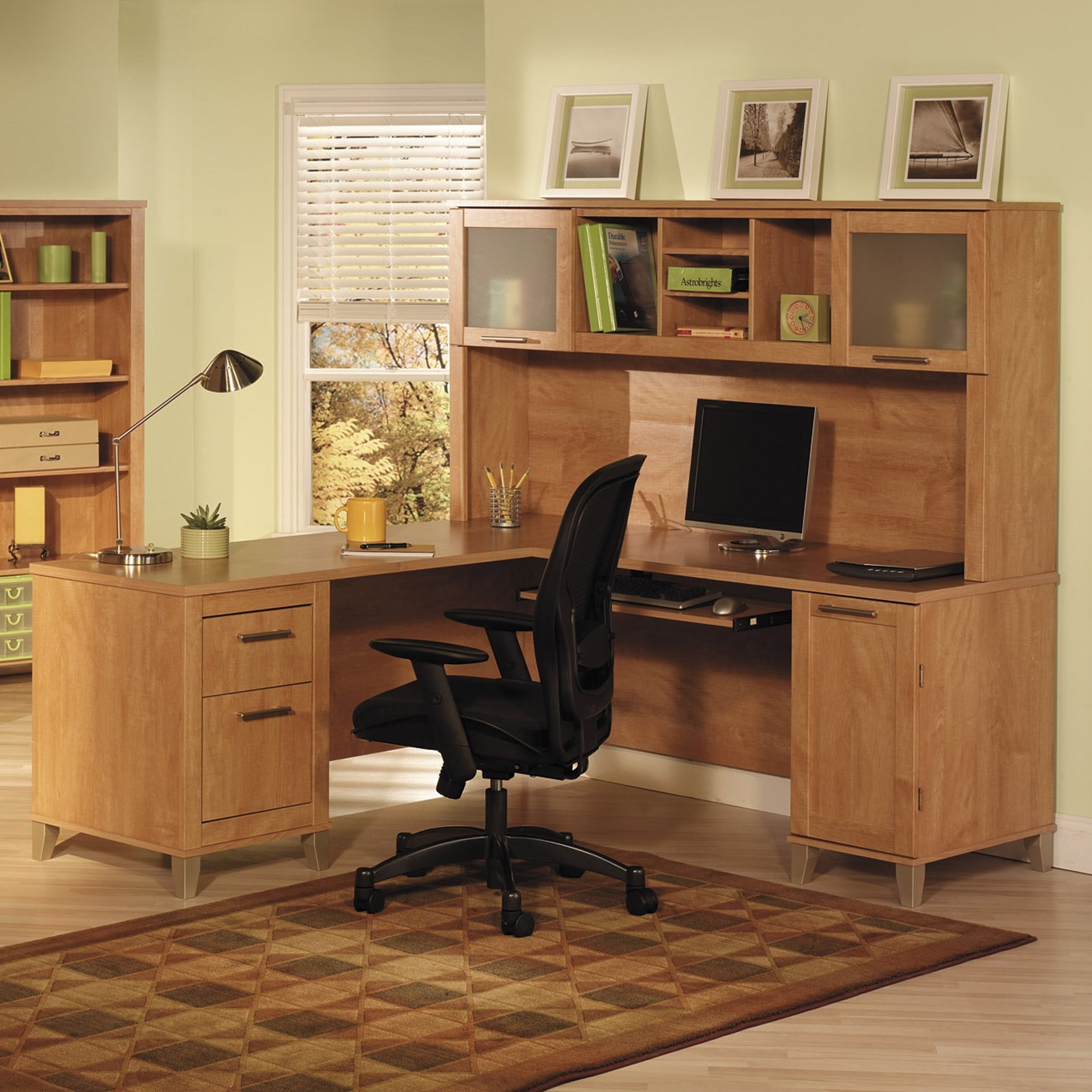 Bush Somerset Estate 71 in. Computer Desk with Options