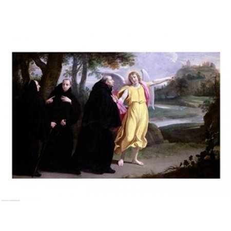 Scene from the Life of St Benedict Canvas Art - Philippe De...