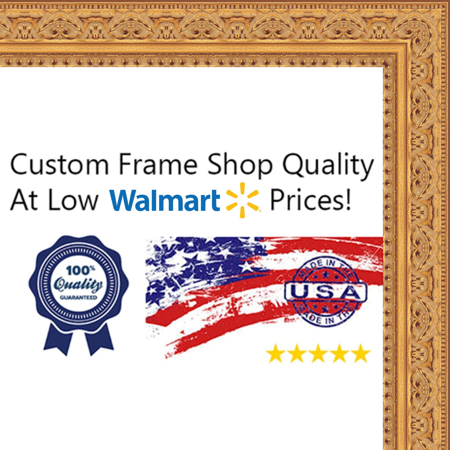 18x26 - 18 x 26 Antique Gold Solid Wood Frame with UV Framer\'s ...