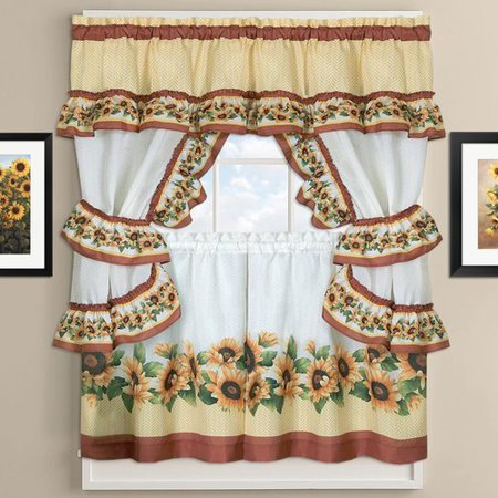 Sunflower Curtains Kitchen Unique Inspiration