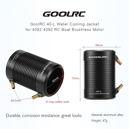 GoolRC Aluminum 40-L Water Cooling Jacket Cover for 4082 4092 RC Boat Brushless Motor - image 1 of 7