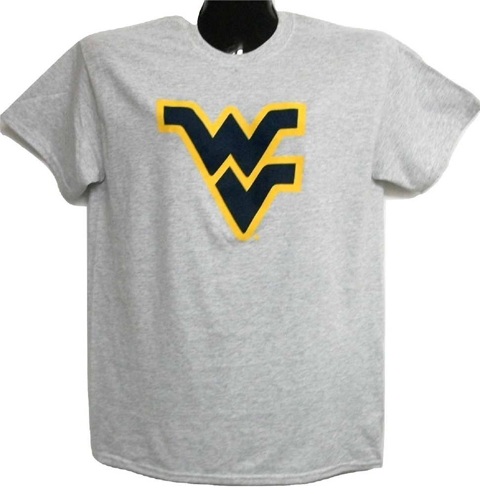West Virginia Mountaineer's Flying WV Light Grey Tee-shirt Large