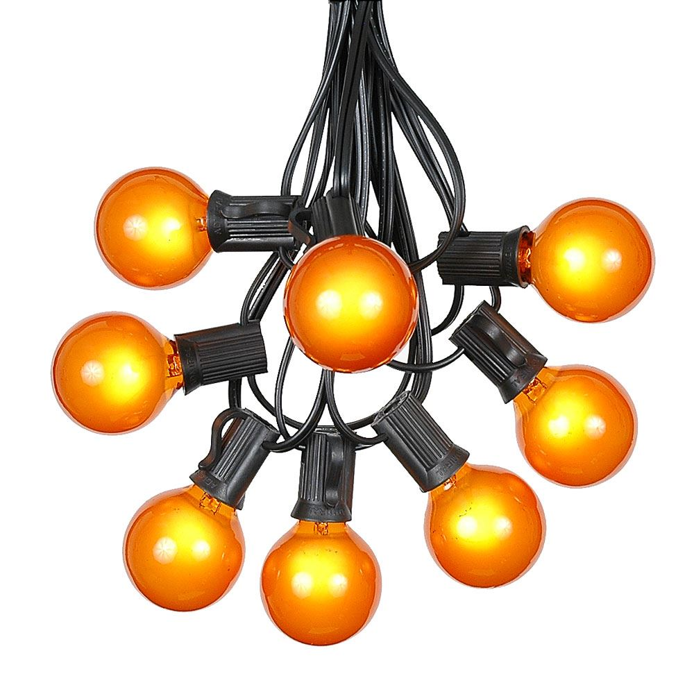 g40 globe string lights with 25 frosted globe bulbs use
