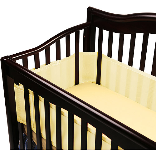 BreathableBaby - Breathable Safer Bumper, Fits All Cribs, Yellow