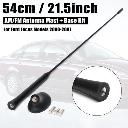 Roof Mount AM/FM Radio Signal Antenna Aerial Mast + Base Kit Set For Ford Focus 2000-2007