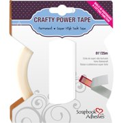 Scrapbook Adhesives, Crafty Power Double Sided Tape with Dispenser, Translucent, 1/4-Inch, 81-Feet