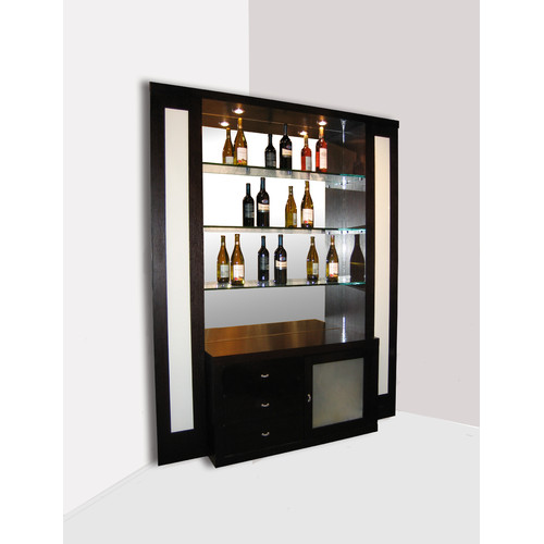 Sharelle Furnishings Elite Corner Back Bar with Wine Storage