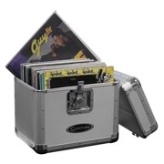 Odyssey KROM Transport Case for 70, 12 Inch Vinyl Records, Silver | KLP1-SILVER