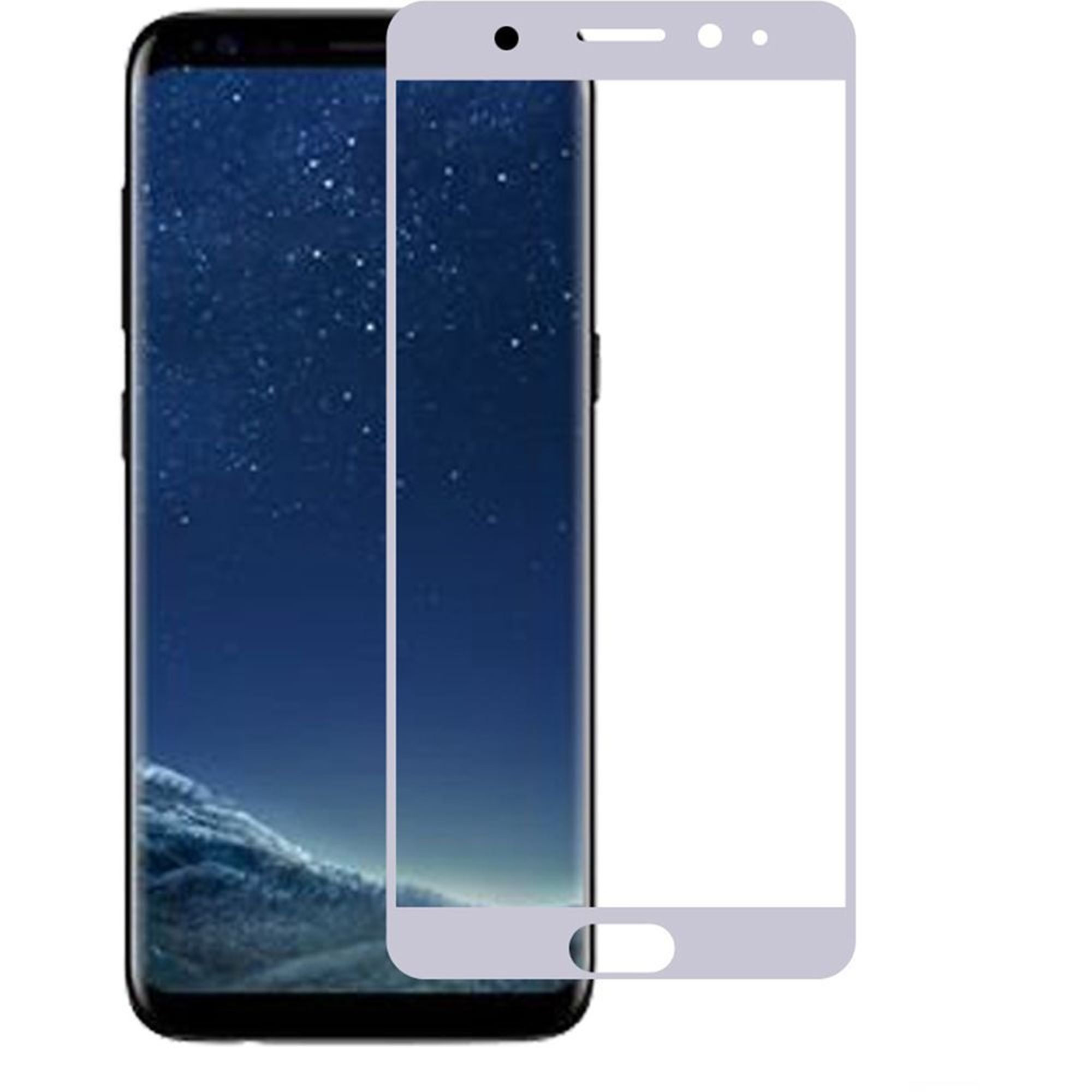 Samsung Galaxy S8 glass screen protector by Insten Clear Tempered Glass Screen Protector Film Cover For Samsung Galaxy S8, Silver