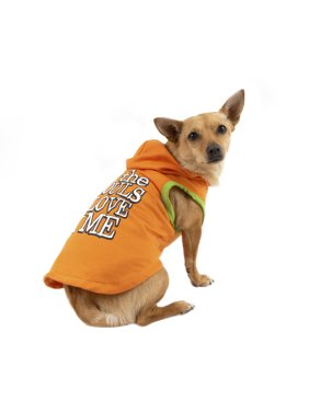 Way To Celebrate Dog Hoodie, Orange All The Ghouls Love Me, (Small)