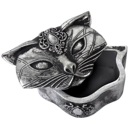 - Alchemy of England Sacred Cat Trinket Box Silver