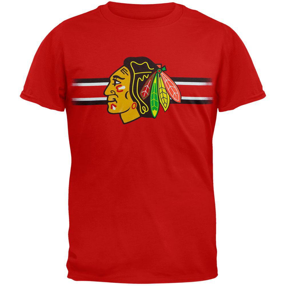Chicago Blackhawks Bar Stripe Logo Youth T-Shirt by