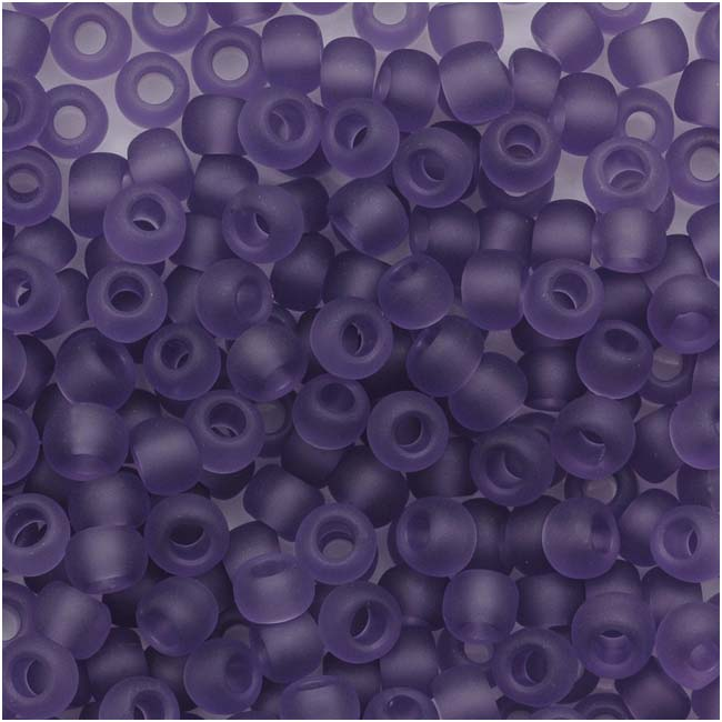 Toho Round Seed Beads 8/0 #19F 'Transparent Frosted Sugar Plum' 8 Gram Tube