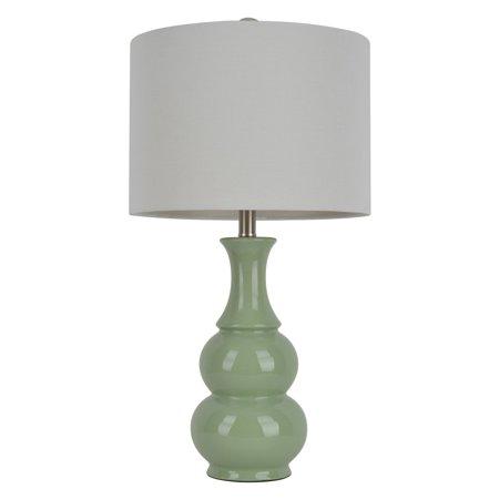 Light Green Double Gourd Ceramic Table Lamp