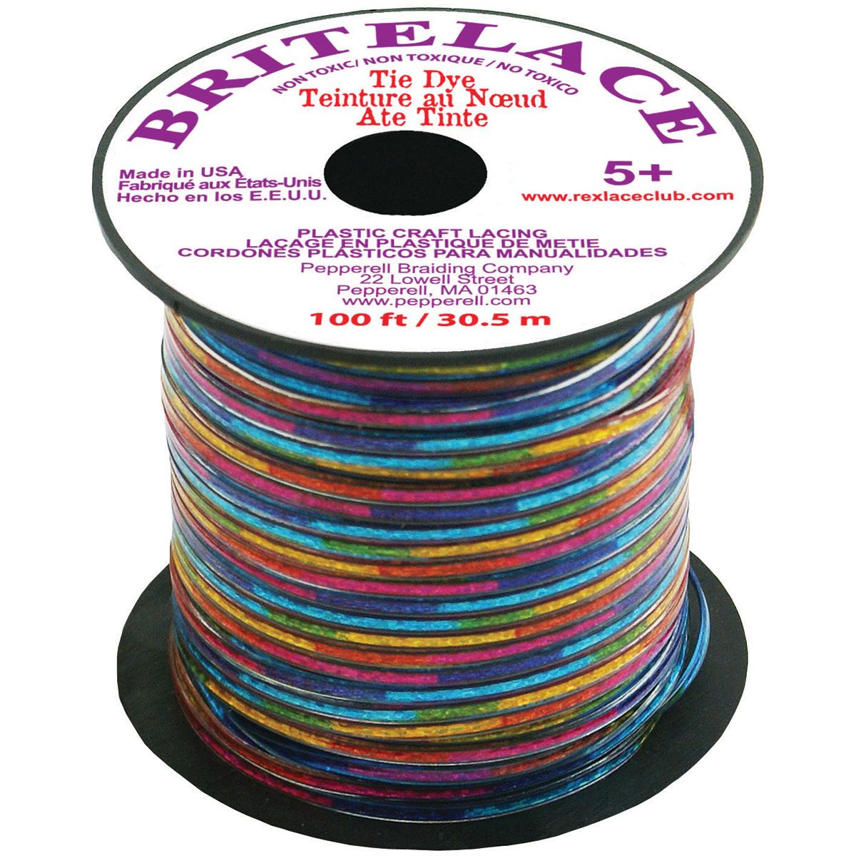 "Rexlace Plastic Lacing .0938""X33yd-Lace Tie Dye"
