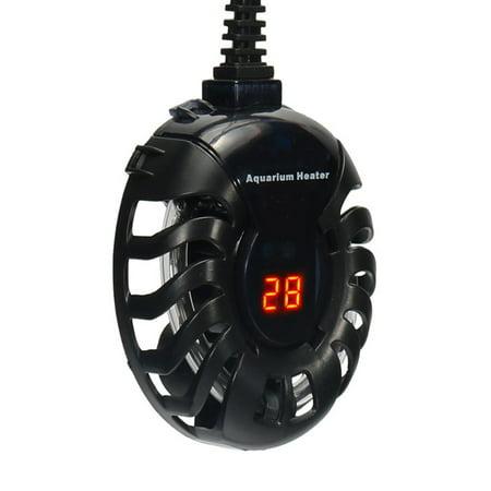 Submersible Heater 20-100W Aquarium Heater Digital Temperature Controller for Aquarium Glass Fish Tank Turtle Tank 5/10/25 Gallon ()