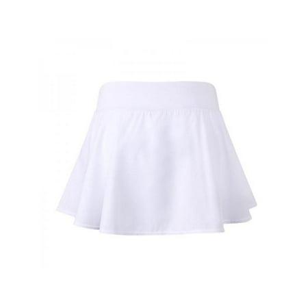 Flared Kids Skirt - MarinaVida Women Quick Dry Tennis Sport Skirt High Waist Flared Pleated Short/Mini Skirt Dress