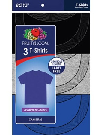 Boys' Color Crew Tees, 3-Pack