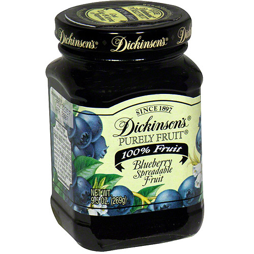 Dickinson's Blueberry Spread, 9.5 oz (Pack of 6)