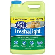 Cat`s Pride Fresh and Light Premium Clumping Fragrance Free Scoopable Cat Litter Jug, 15-Pound