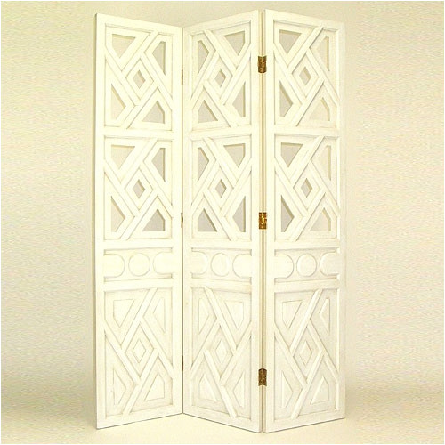 Wayborn 3 Panel Room Divider in White