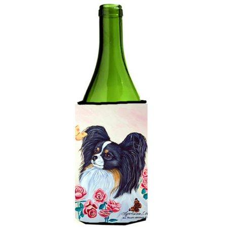 Carolines Treasures 7236LITERK Papillon Wine bottle sleeve Hugger - image 1 de 1