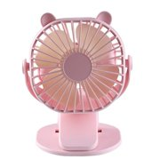 Usb Powered Fan With Clip 3 Speeds Strong Airflow Small Fan With Sturdy Clamp Quiet Personal Desk Fan Clip Fan