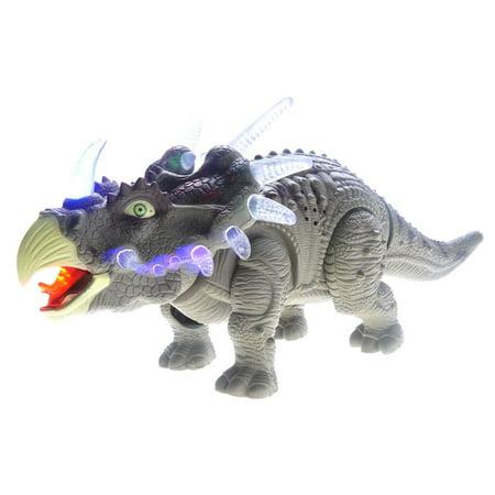 Walking Triceratops Dinosaur Toy Figure - Green - Green Dinosaur