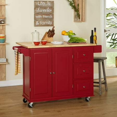 - TMS Sundance Kitchen Cart, Red