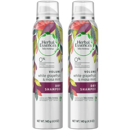 (2 pack) Herbal Essences Bio:Renew White Grapefruit & Mosa Mint Dry Shampoo, 4.9 oz ()