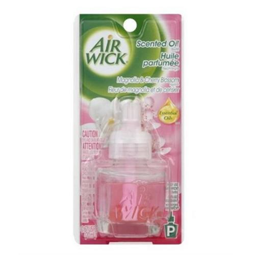 Airwick Scented Oil Refill, Essential Oils Magnolia & Cherry Blossom 0.67 oz (Pack of 3)