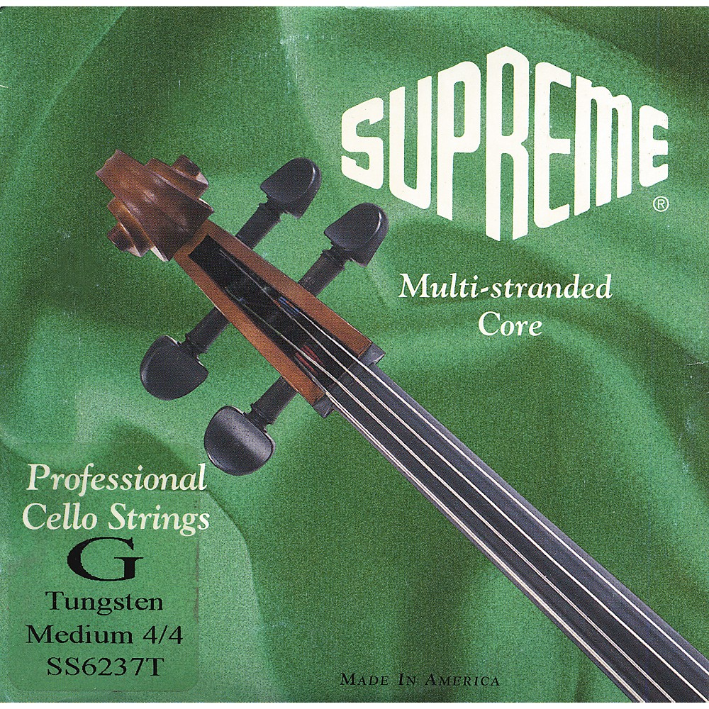 Super Sensitive Supreme Cello Strings G, Medium 4 4 Size by Super Sensitive