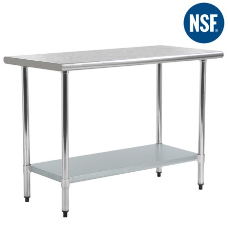 Stainless Steelwork Tables (Stainless Steel Kitchen Work Table Commercial Restaurant Table, 24 X 48)