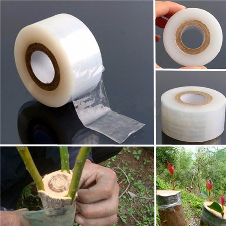 2cm x 80m Transparent Nursery Grafting Tape Self-Adhesive For Garden Tree -