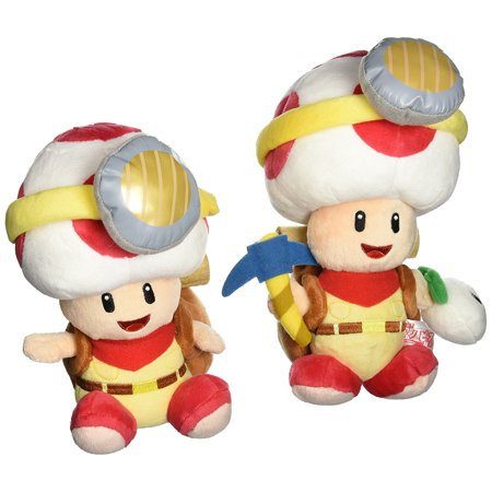 Little Buddy Super Mario Plush Doll Set of 2 - Captain Toad Standing & Sitting Pose