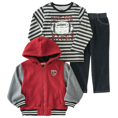 Kids Headquarters Infant Boys 3-Piece Football Outfit Jacket Shirt & Pants for $<!---->